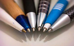 Kugelschreiber auf Papier
